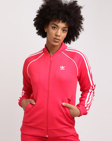 adidas Super Star Track Top Radiant Red