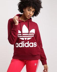 adidas Ladies Adicolour Hood Collegiate Burgundy
