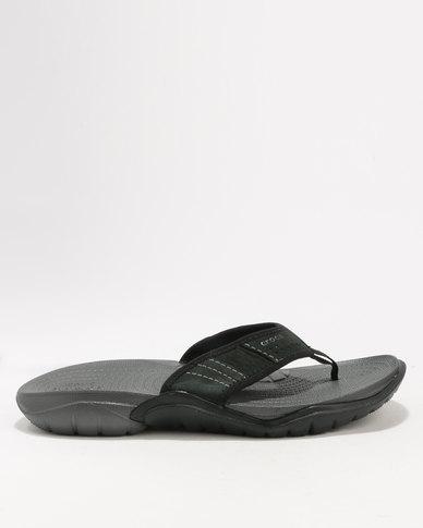 da15260aa88d44 Crocs Men s Swiftwater Flip Flop Black