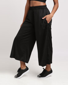 Styling Compliments Rib Pants Black