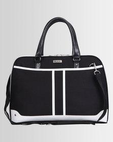 BLACK® Shoulder Sling Bag Black White Trim