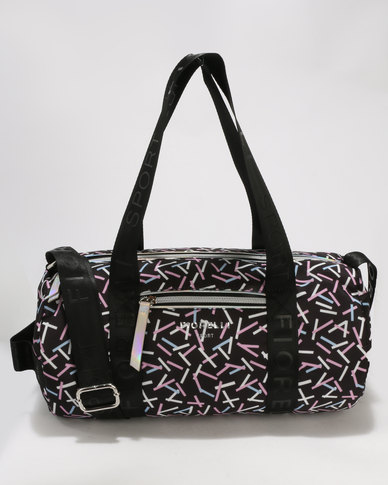 Fiorelli Flash Mini Small Duffle Bag Black/Multi