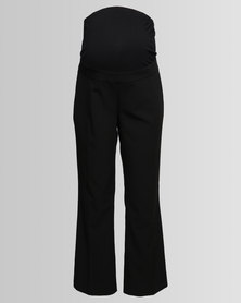 New Look Maternity Over Bump Wide Leg Trousers Black