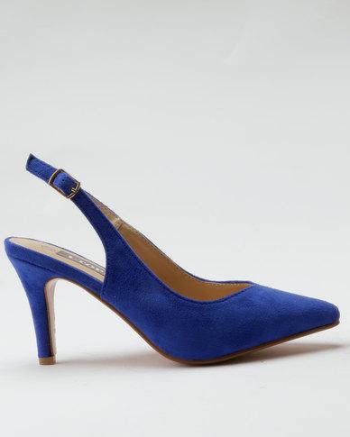 7698026932c Utopia Pointy Slingback Heels Blue