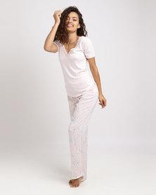 Women'secret 72 Feminine Pajamas Set Pink