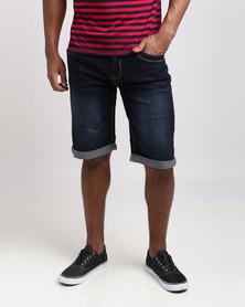 KG Draw Cord Waist Denim Shorts Blue/Black