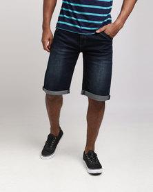 KG Utility Front Pocket Denim Shorts Indigo