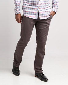 KG Slim Fit Stretch Chino Charcoal