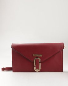 Blackcherry Bag Fold Over Clutch Handbag Burgundy