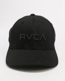 RVCA Boys Flex Fit Cap Black