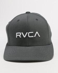 RVCA Boys Flex Fit Cap Grey