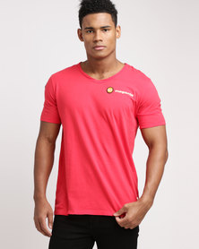Magents Small Logo V Neck T-Shirt Red