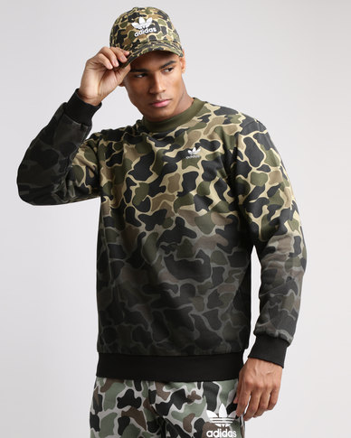 factory outlets popular brand reasonably priced adidas Camo Crew Neck Top Multi