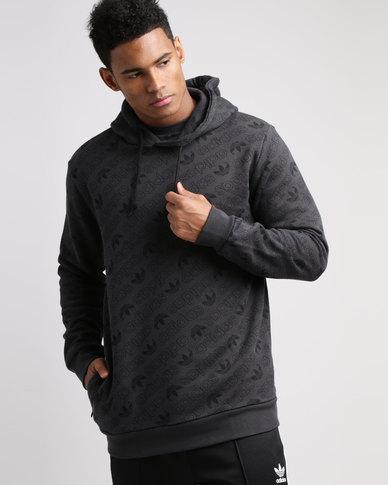 Hoodie Zando Adidas Grey Print All Over gXqXtR