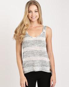 Lizzy Gabby Vest Grey and White