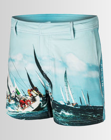 Pullin Bond Skipper Swim Trunks Blue