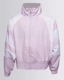 adidas Junior Equipment Wind Breaker Zip Thru Sweatshirt Pink
