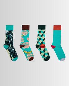 Pullin Socks Pack #16 Multi Coloured