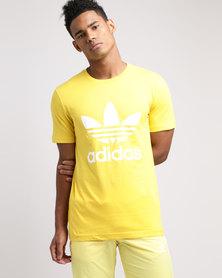 adidas Mens Originals Trefoil Tee Yellow