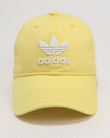 fe59123b79c adidas Trefoil Cap Intense Lemon White