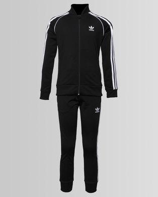 adidas Large Trefoil Superstar Tracksuit Black