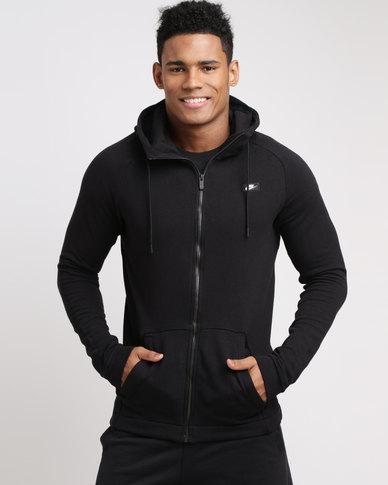 d0f18988f757 Mens Nike Sportswear Modern Full Zip Hoodie Black