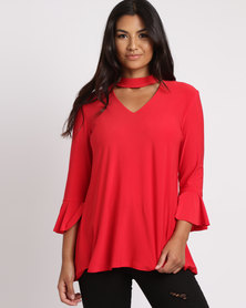 Famous Victoria Top Red