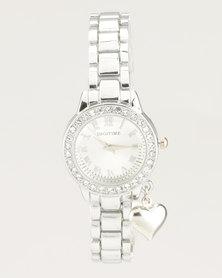 Digitime Gypsy Watch Silver-tone