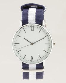 Digitime Nylon Watch Navy/White