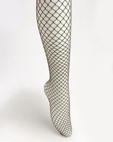 New Look Medium Fishnet Tights Gold