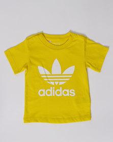 adidas I Trefoil Tee Yellow