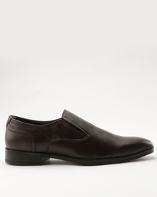 Pierre Cardin Leather Formal Slip On Brown