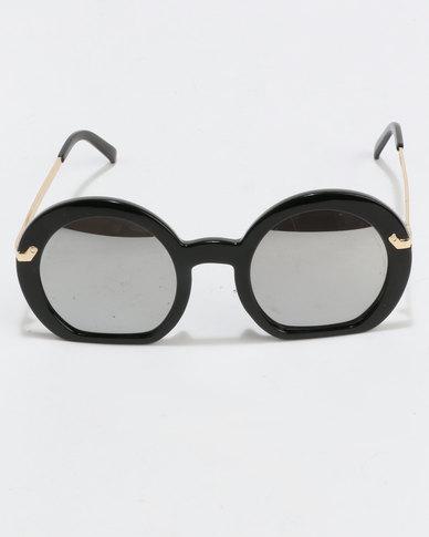 388aef7498e You   I Oversized Round Sunglasses Black