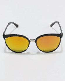 You & I Plastic Cateyes Sunglasses Black