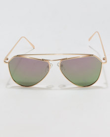 You & I Wiry Frame Sunglases Gold-tone Frame