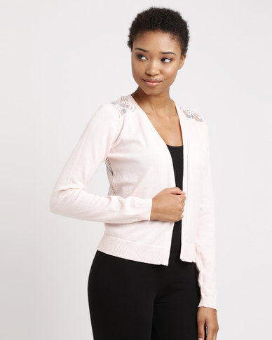 Utopia Cardi with Lace Back Blush