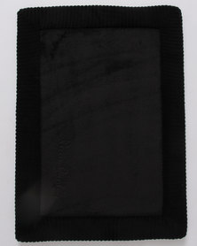 Pierre Cardin Bath Mat Memory Foam Black