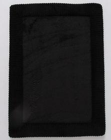 Pierre Cardin Bath Mat Memory Foam Black