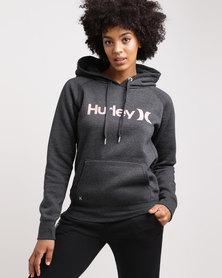 Hurley One & Only Pop Fleece Hoodie Dark Grey Heather