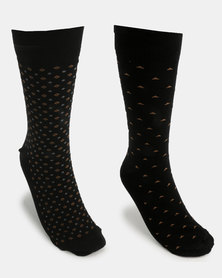 JCrew Design 2 Pack Sock Taupe/Black