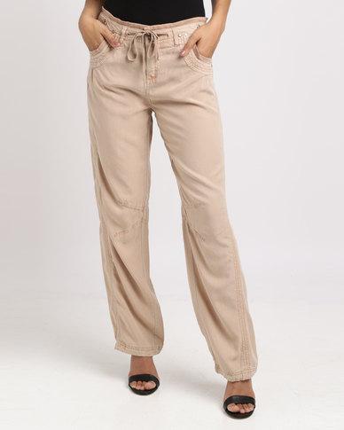 Vero Moda Relaxed Viscose Pants Stone