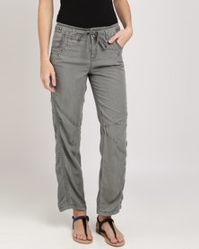 Vero Moda Relaxed Viscose Pants Khaki