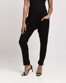 Utopia Viscose Twill Pants Black