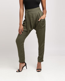 Utopia Viscose Twill Pants Olive