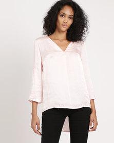 Legit V-Neck Blouse Pink