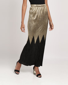 Legit Border Maxi Skirt Gold