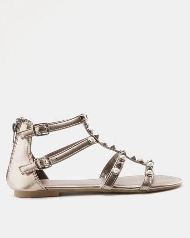 1562af950320 Legit Embellished Gladiator Sandal Pewter