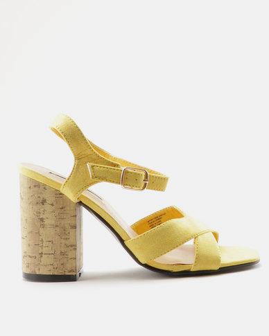 503aaf1e18c Legit Cork Block Heel Sandal Yellow