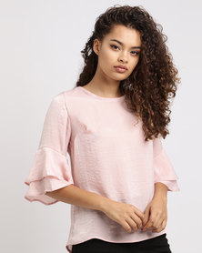 Utopia Top with Back Tie Pink