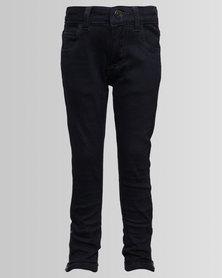 London Hub Fashion Denim Jeans Navy